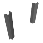 µM JOUE FINITION ACIER (12cm) RAL_9017