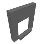 µM SET DEVANTURE ETR. + SOCLE RAL_9010